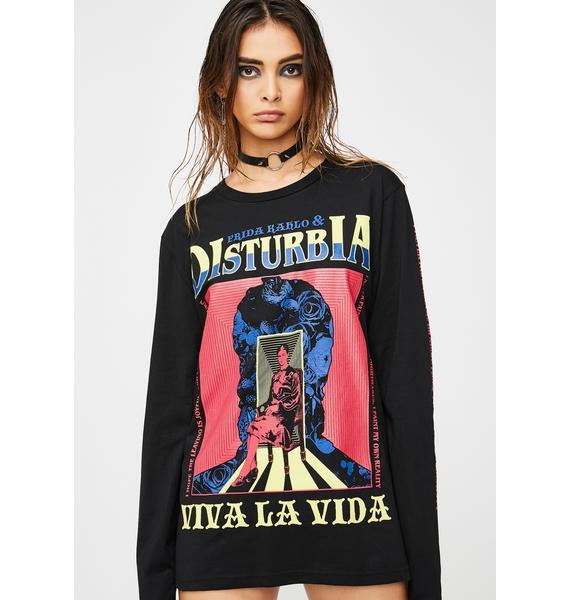 Disturbia Frida Dreams Long Sleeve Tee