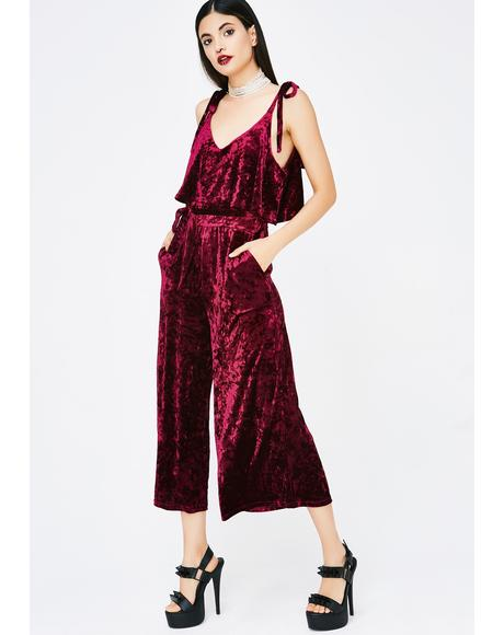 Hopeful Romantic Velvet Jumpsuit