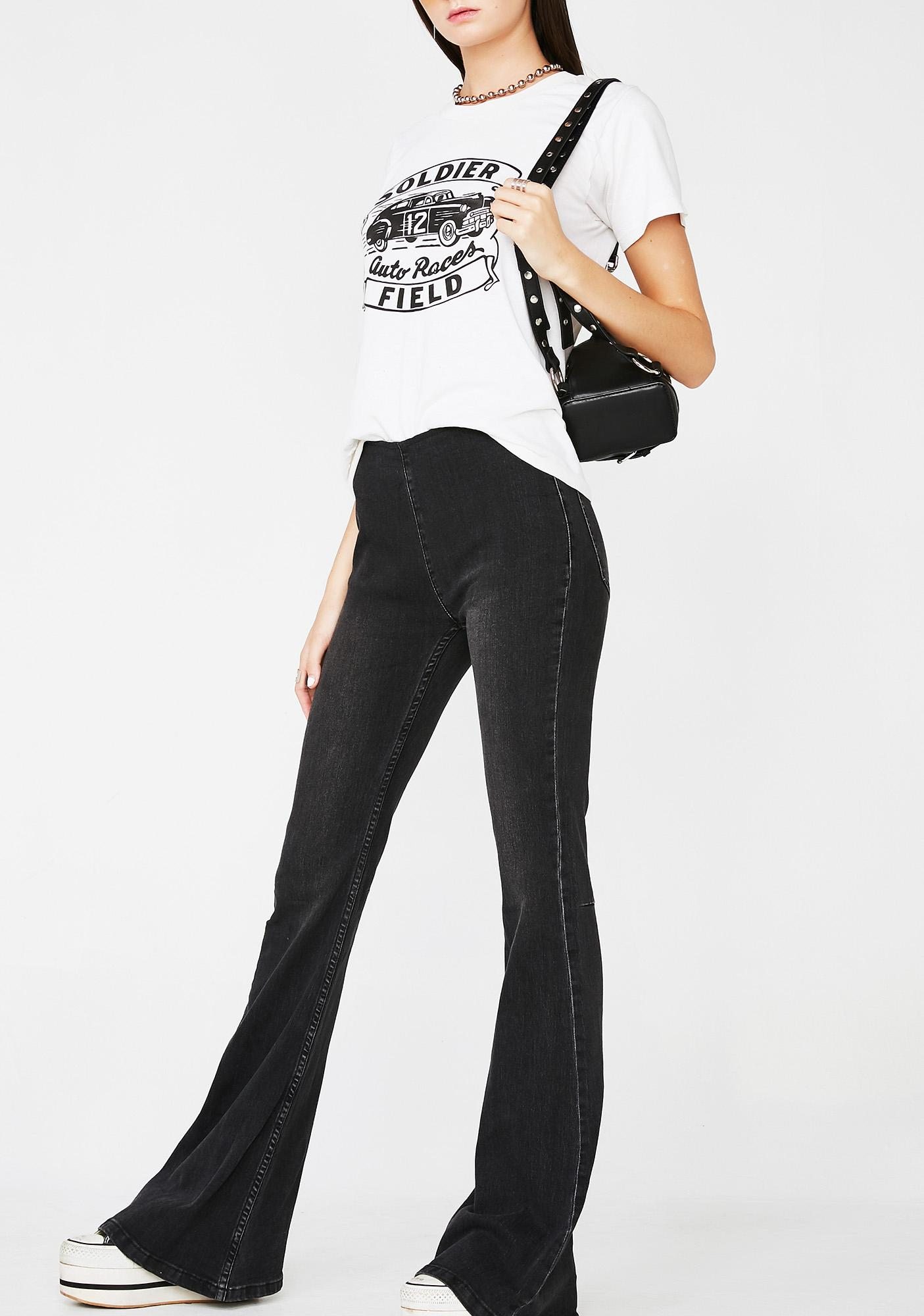 Deadly American All Star Flared Jeans