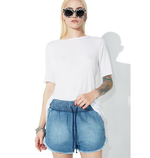 Cheap Monday Flow Light Blue Shorts