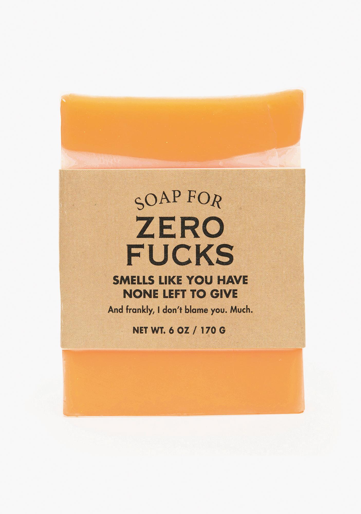 Whiskey River Soap Soap For Zero Fucks