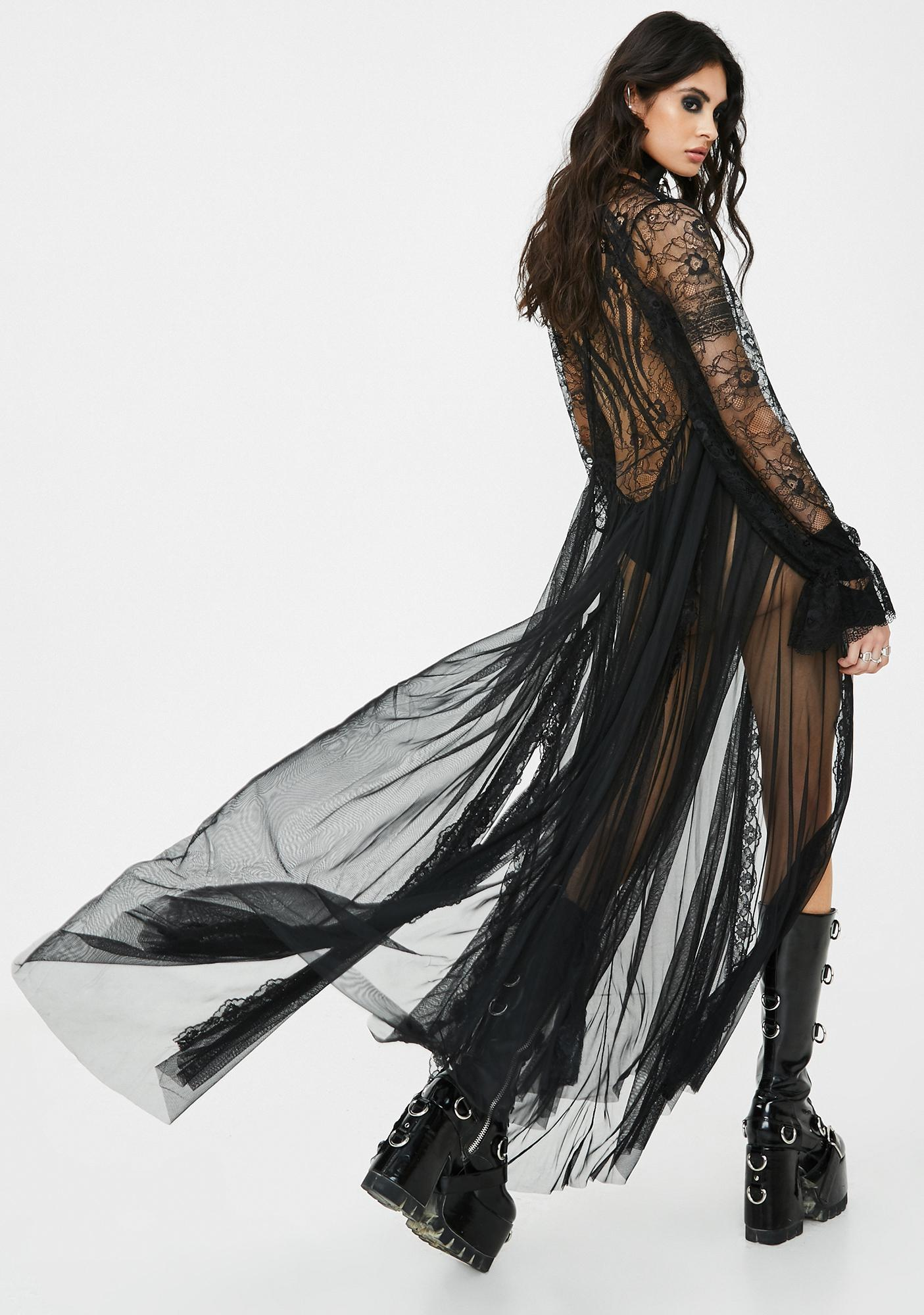 Kiki Riki Spectral Sighting Sheer Maxi Dress