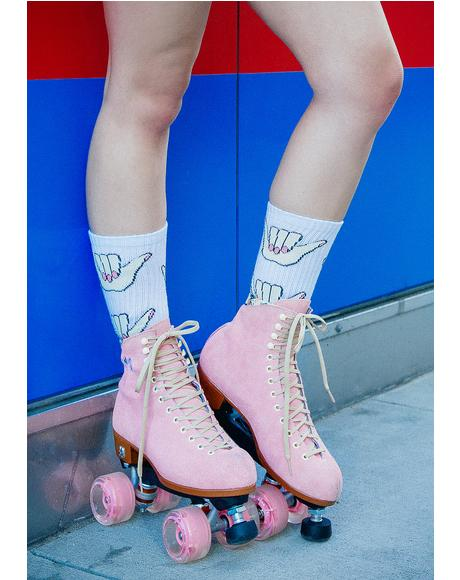 Strawberry Lolly Roller Skates