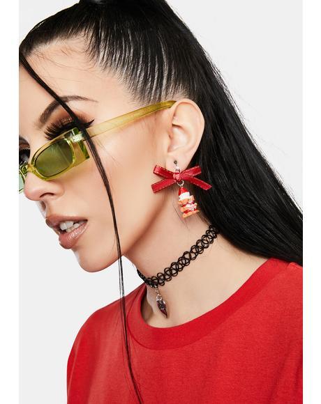 Treat U Strawberry Cake Drop Earrings