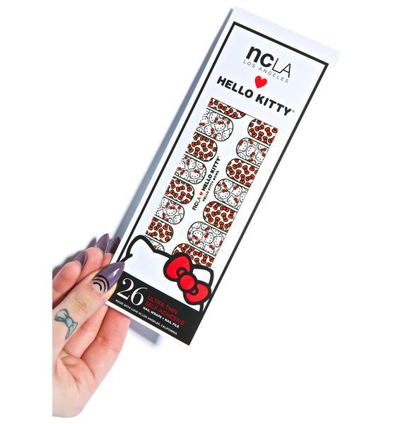 NCLA Hello Kitty Bows Nail Wraps