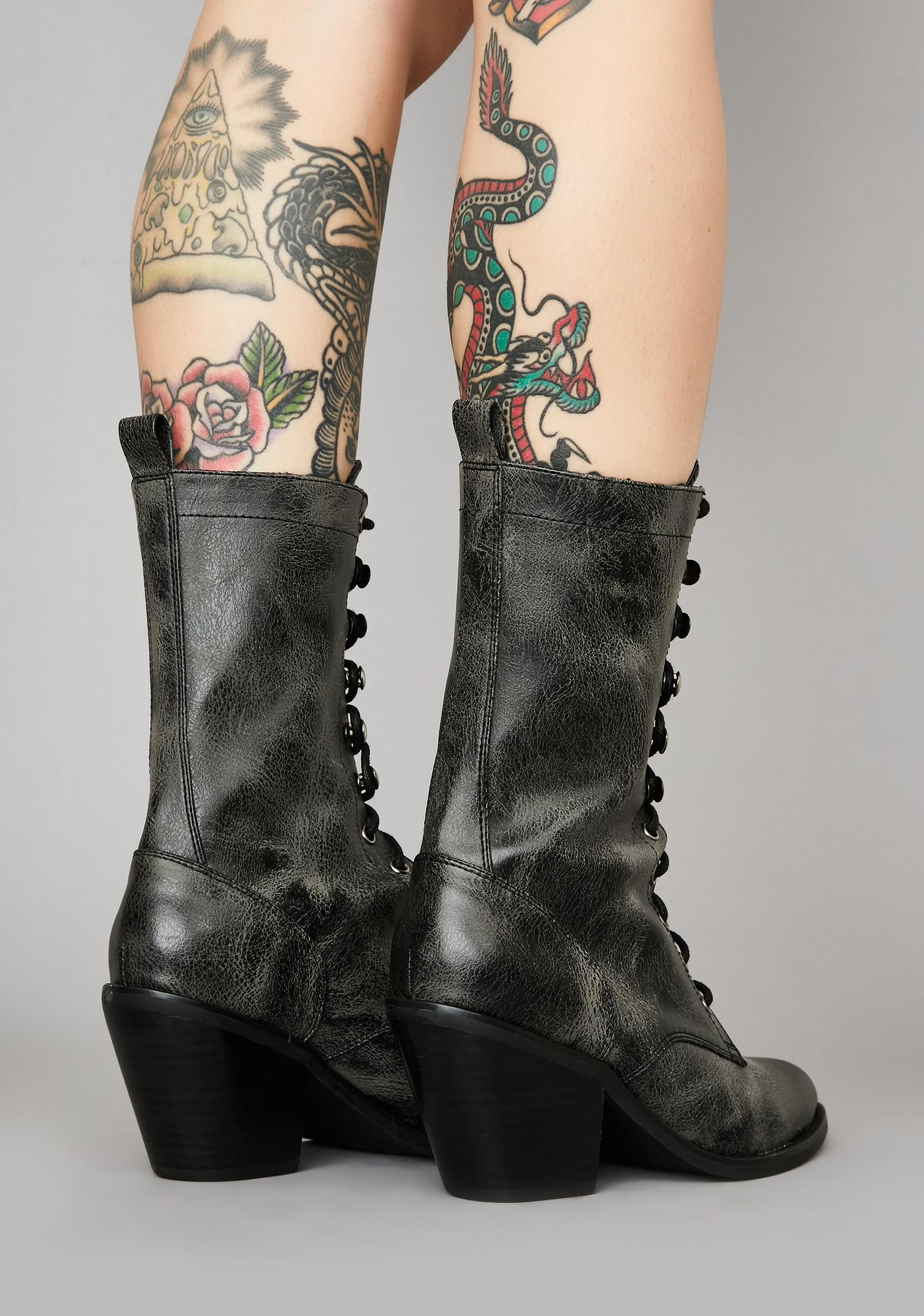 Widow Haunted Haze Granny Boots