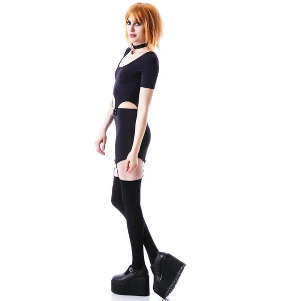 Drop Top Suspender Dress