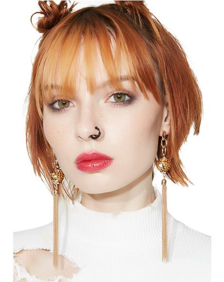 Party Princess Sequin Fringe Earrings