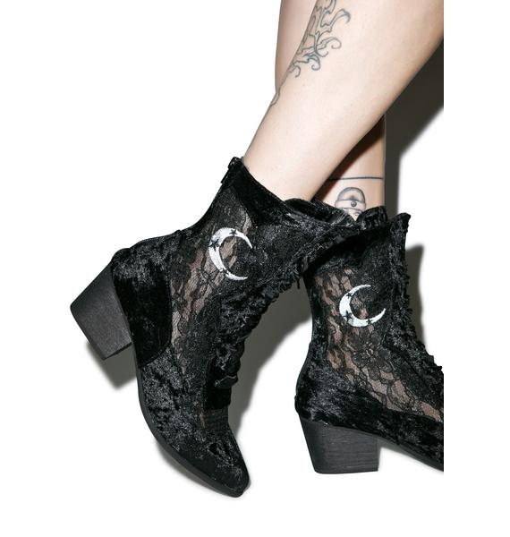 Y.R.U. Dame Heeled Ankle Boots
