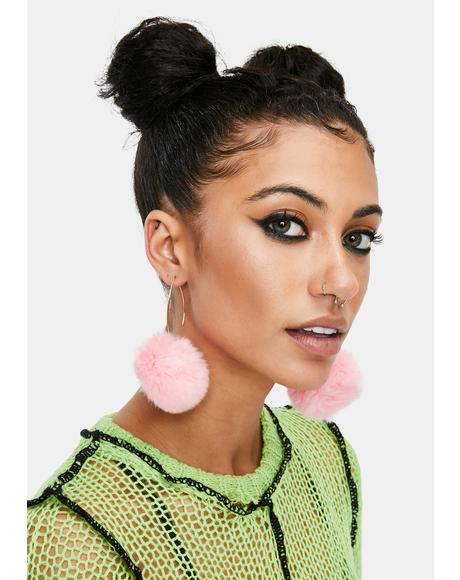 Forever Falling Pom Pom Earrings