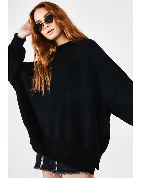 Black Easy Street Oversize Tunic