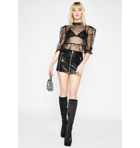 Sinister Blurred Lines Organza Blouse