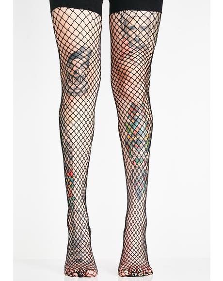 Off The Hook Thigh High Socks