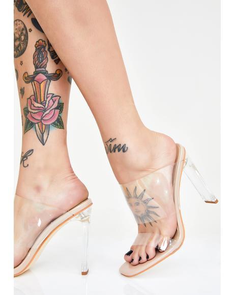 Rose Clear Heels