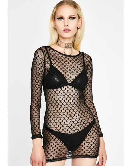 Nightlife Honey Sheer Dress