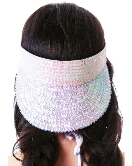 Fancy Fantasy Sequin Visor