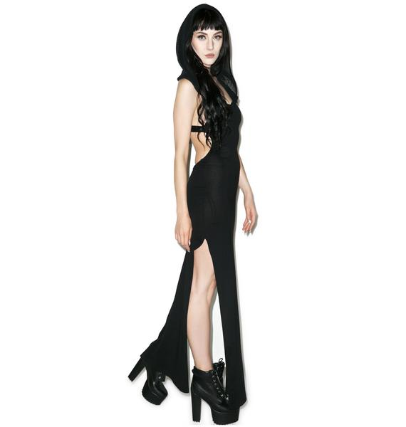 Lip Service Wicked Games Hooded Maxi Dress