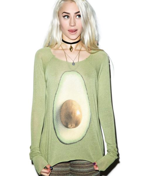 Wildfox Couture Avocado Cozy Raglan