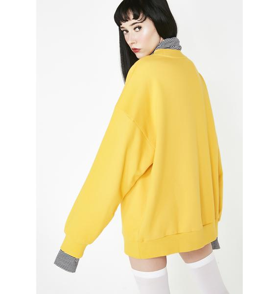 Lazy Oaf Unhappy Layer Sweatshirt