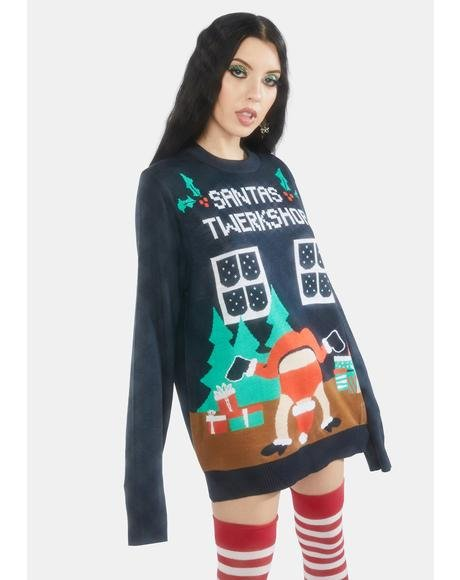 Santa's Twerkshop Holiday Sweater