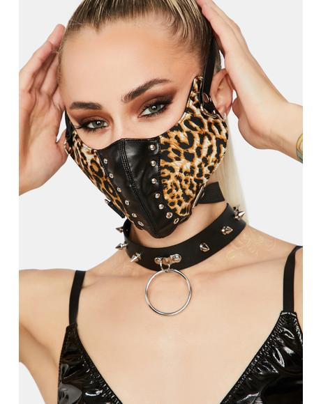 Not So Spotty Leopard Face Mask