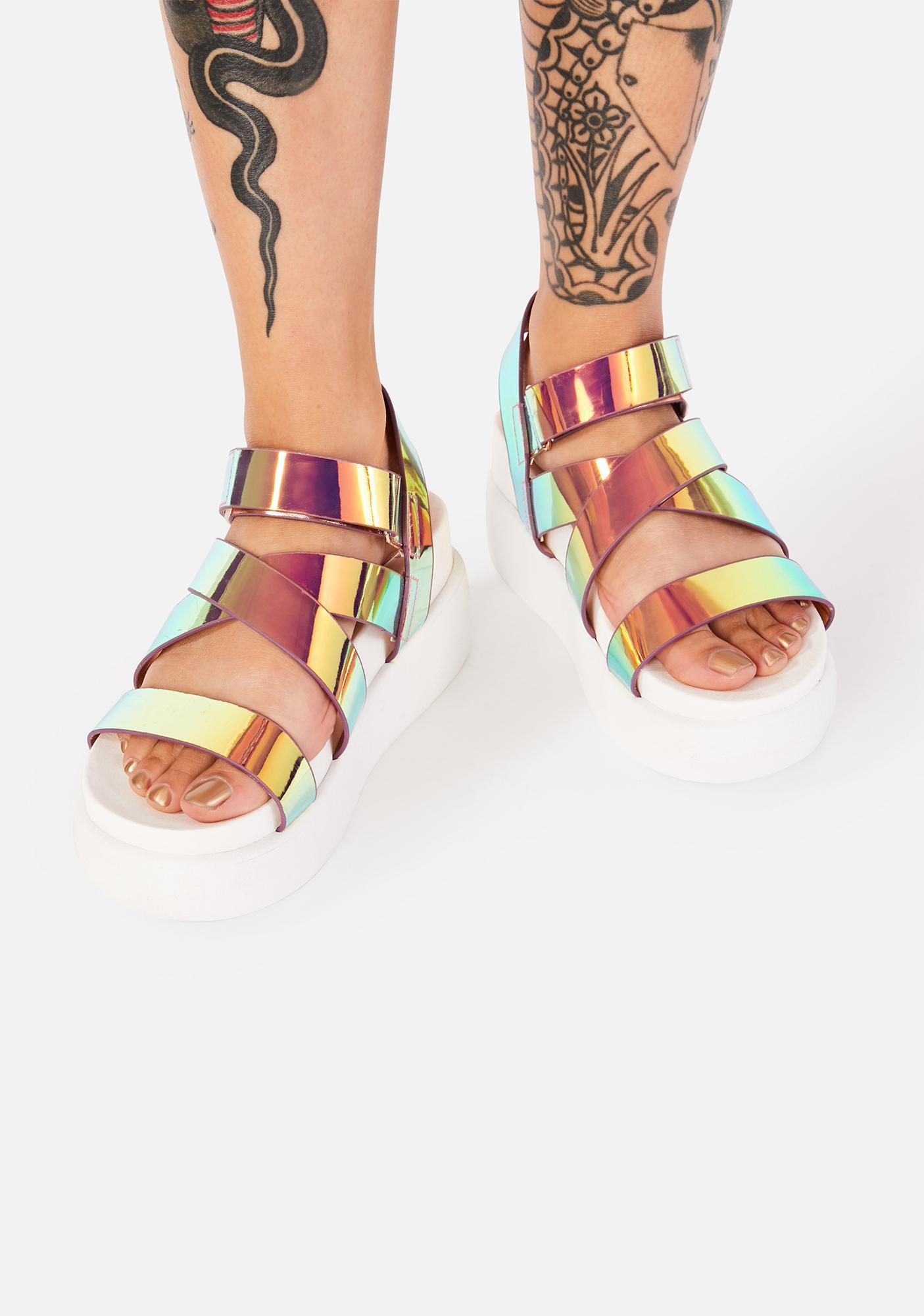 In A Flash Platform Sandals