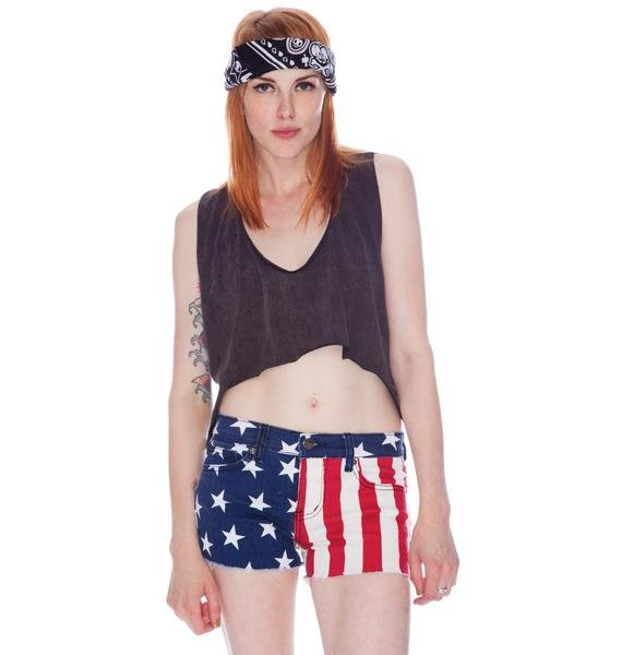 Lip Service Stars and Stripes Dirty Boyfriend Shorts