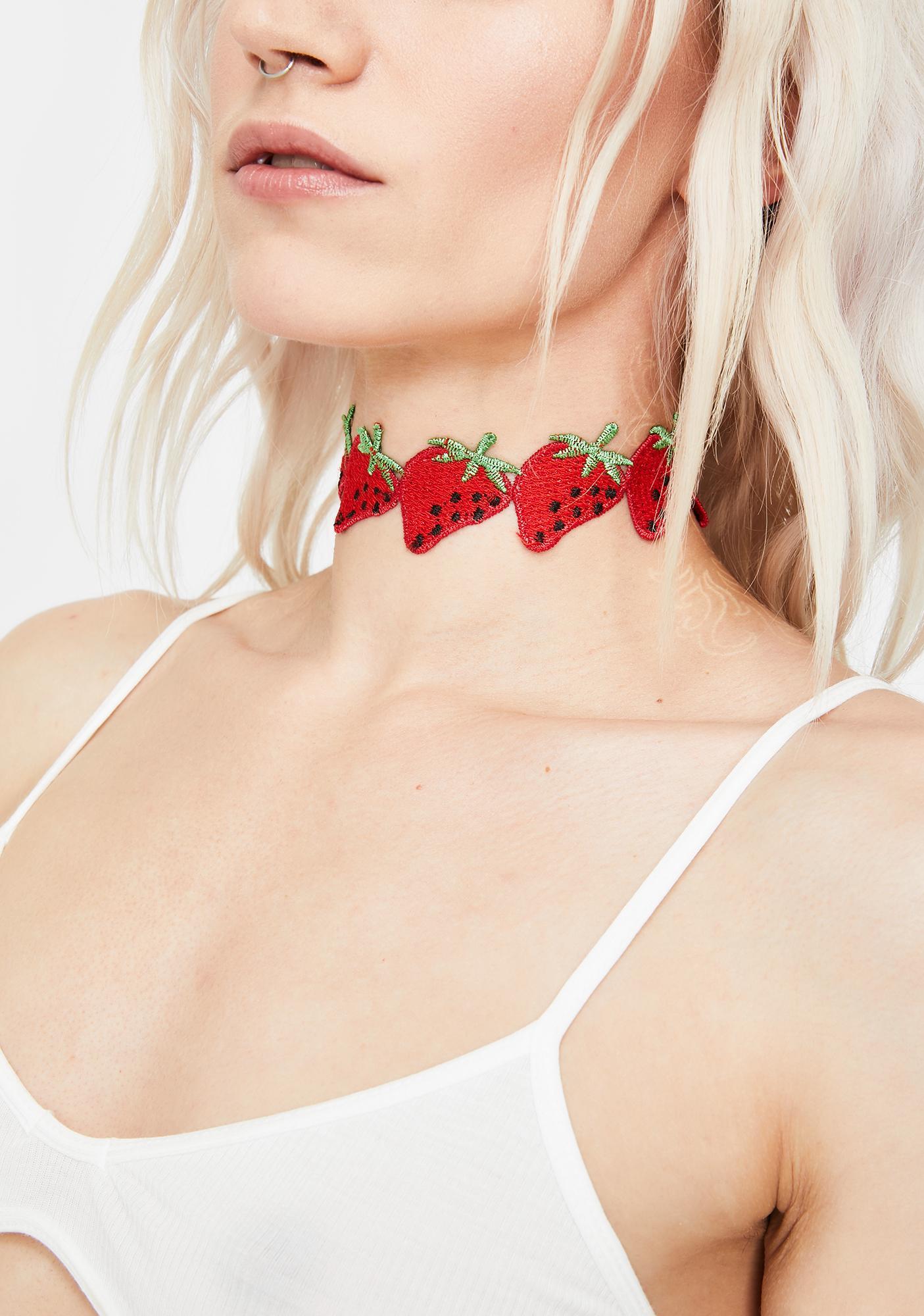 Naturally Sweet Strawberries Choker