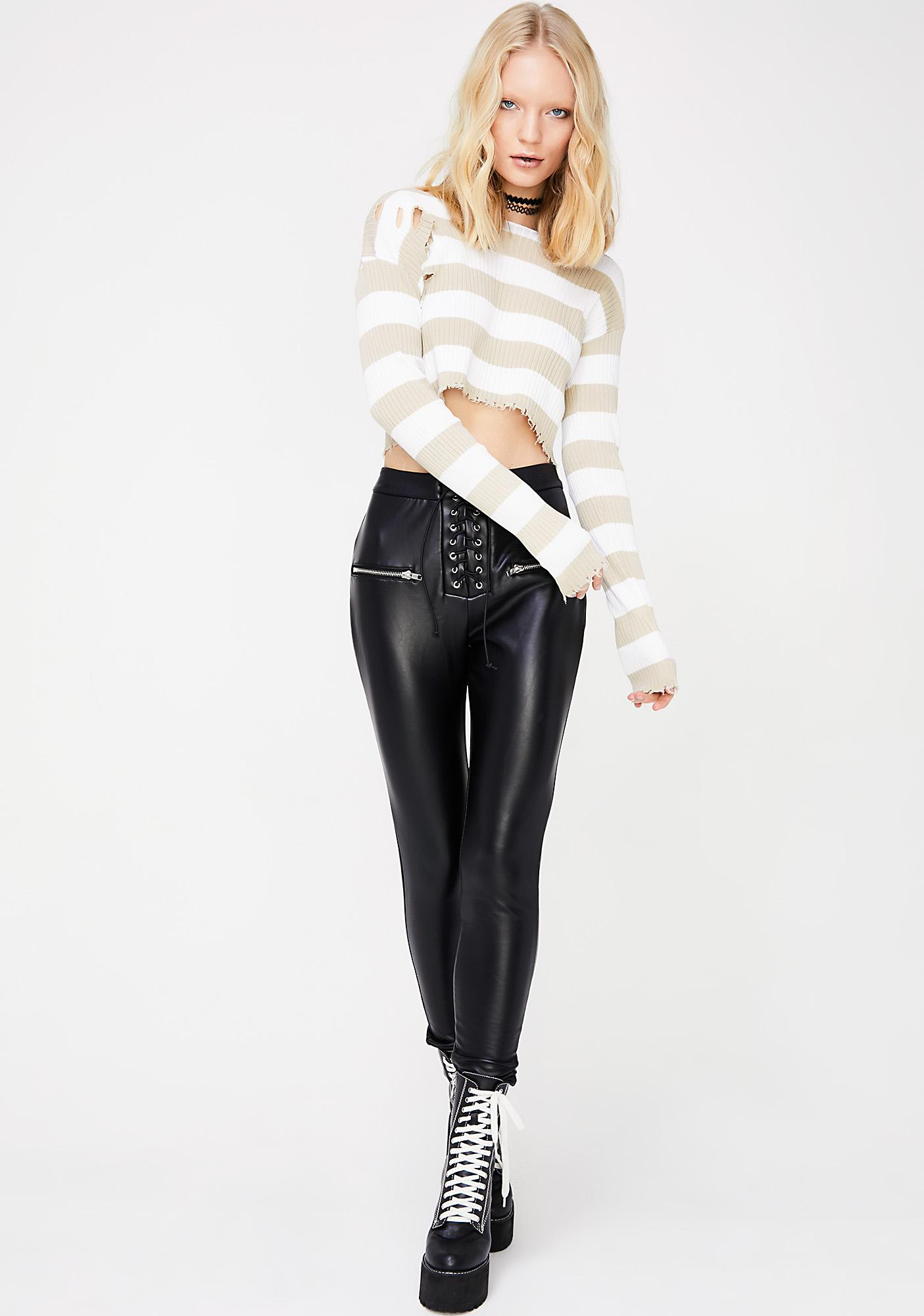 Sand Raw Talent Cropped Sweater