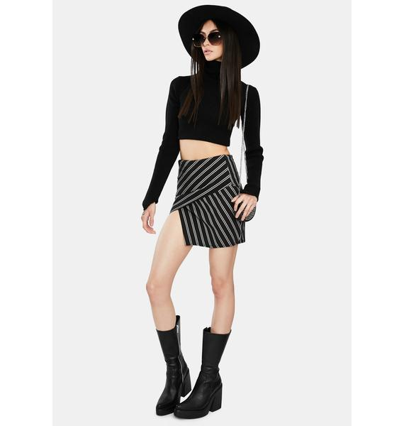Outside The Lines Striped Mini Skirt