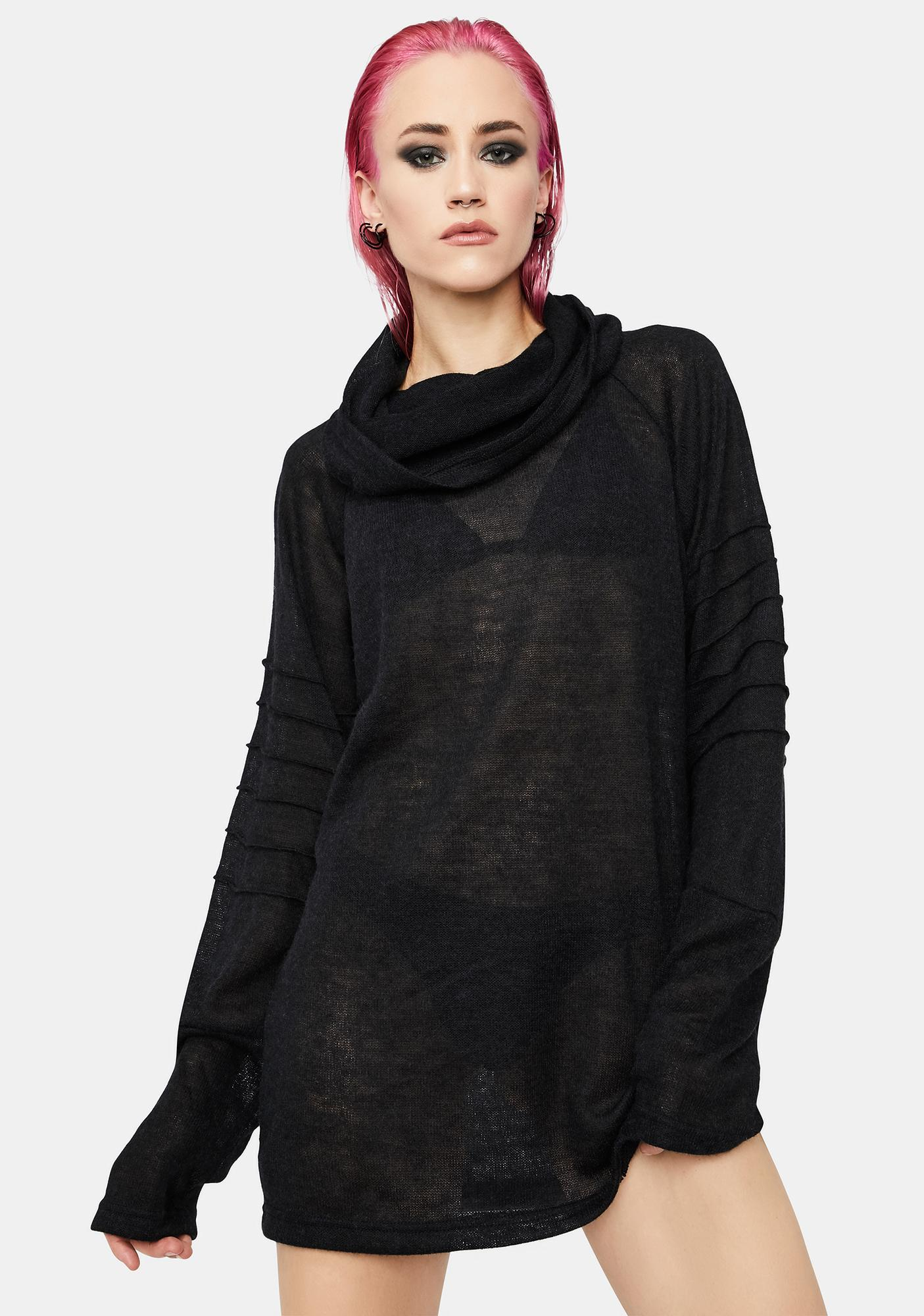 MNML Disillusioned Cowl Neck Top