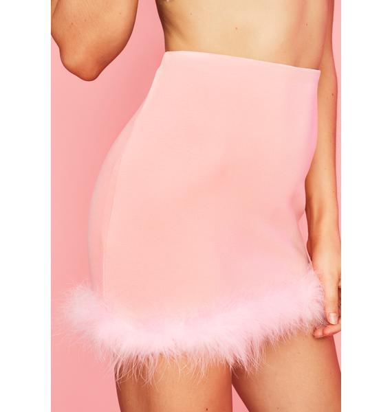 Sugar Thrillz But First Dessert Marabou Skirt