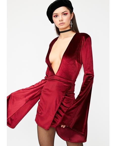 Fire Wicked Thoughts Velvet Dress