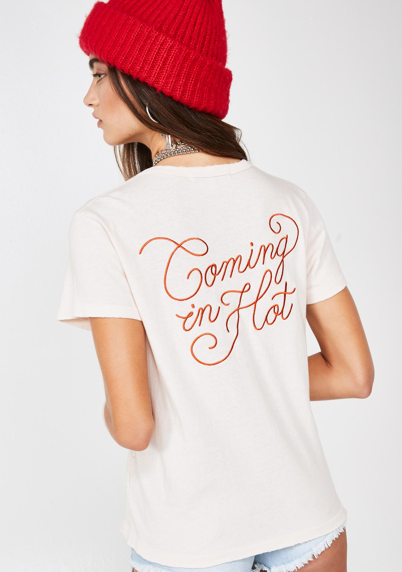 Junk Food Clothing Coming In Hot Tee
