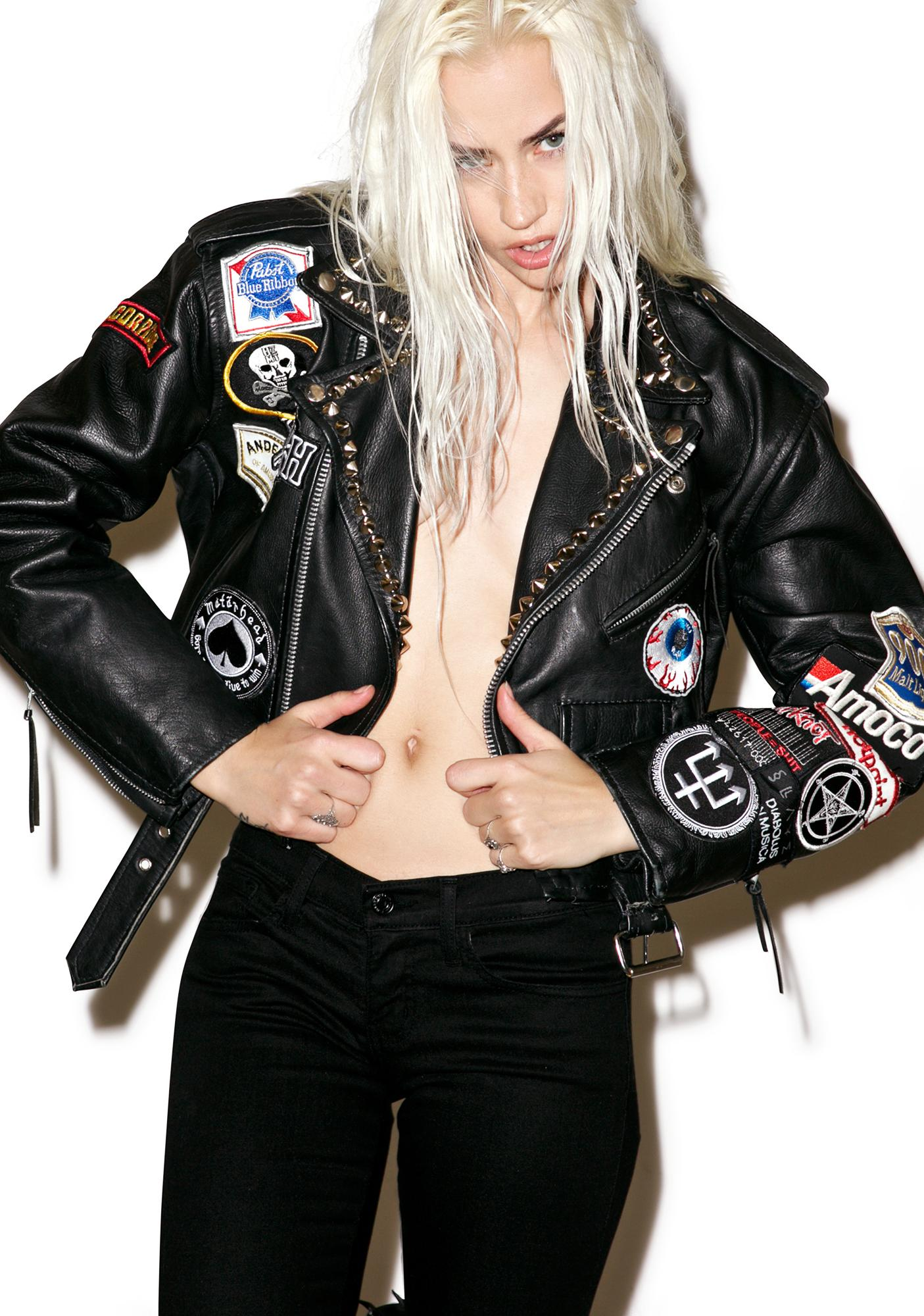 Hazmat Design Highway Star Leather Jacket
