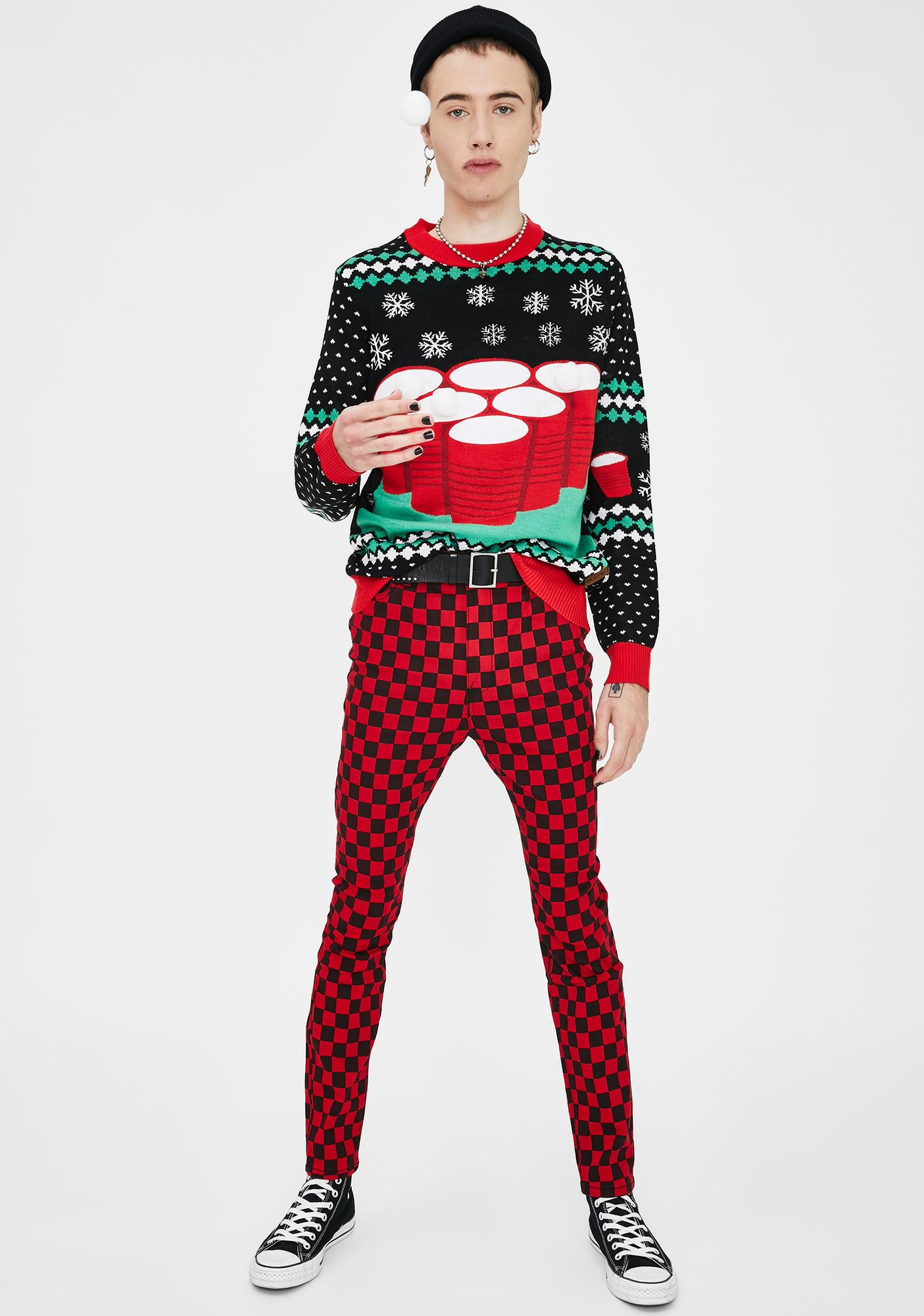 Tipsy Elves Cheer Pong Game Sweater