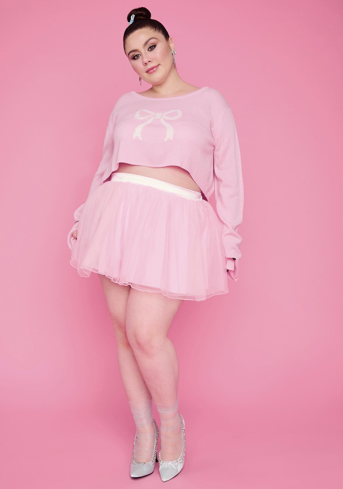 Sugar Thrillz Truly Precious Pirouettes Crop Sweater