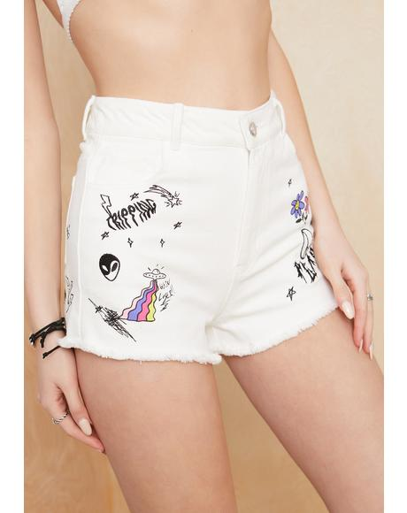 Drawn To You Denim Shorts
