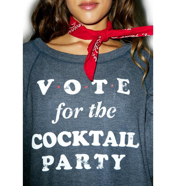Wildfox Couture Happy Hour Vote Monte Crop Sweater