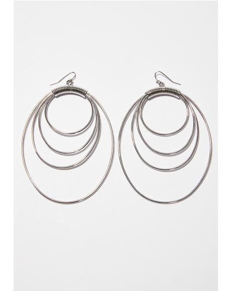 Fresh Look Oval Earrings