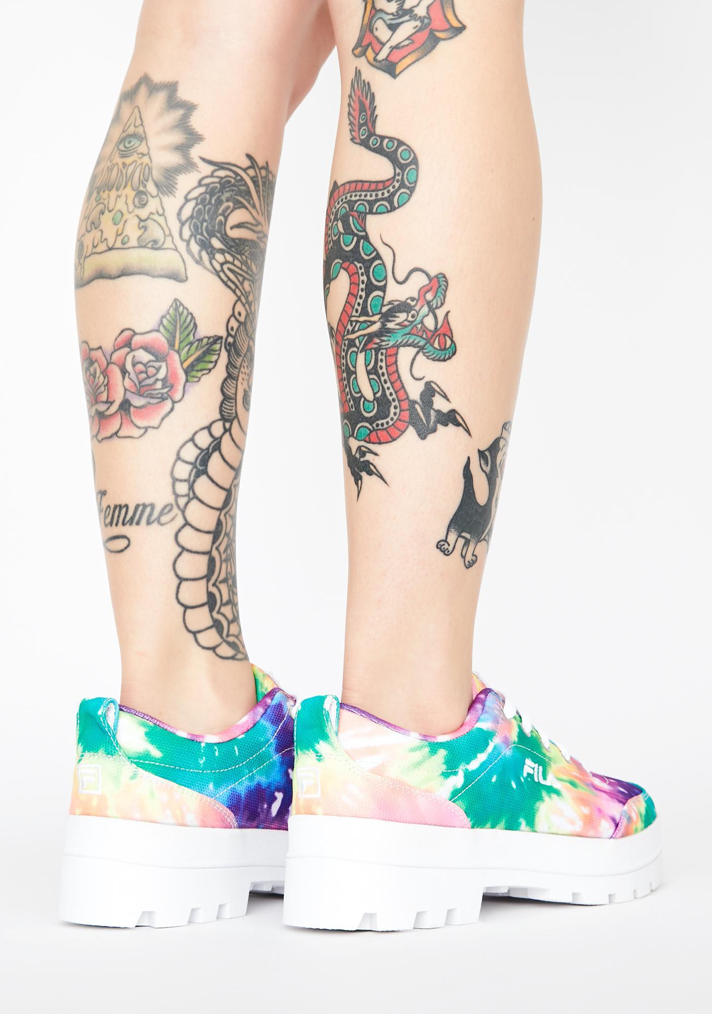 Fila Theme Low Tie Dye Sneakers