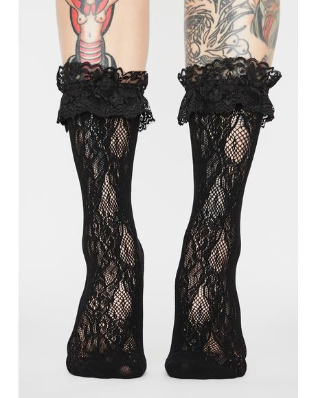 Dark Grave Delusion Ruffle Socks