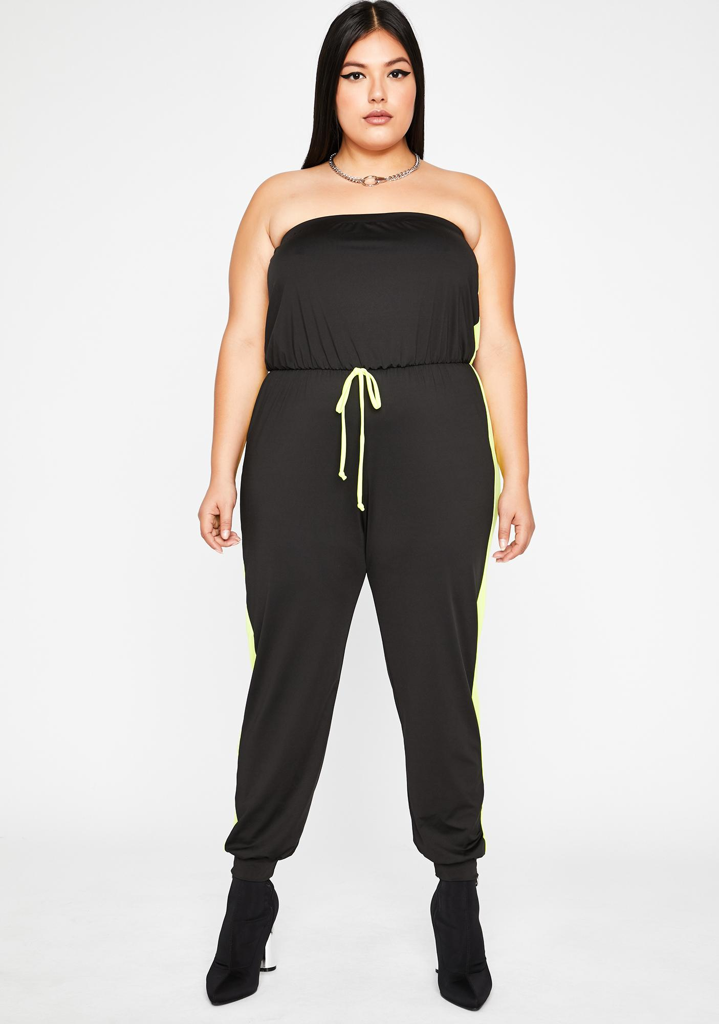 Totally Side Swiped Strapless Jumpsuit