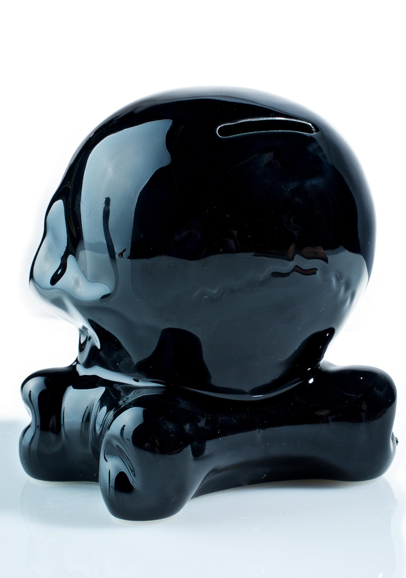 Sourpuss Clothing Ceramic Skull Bank