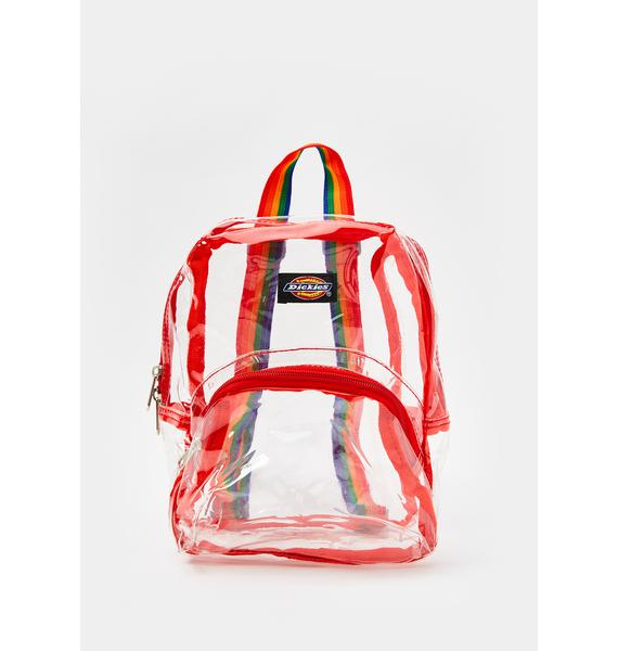 Dickies Clear Rainbow Mini Backpack