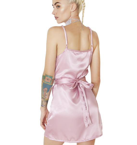 O Mighty Lover Silk Wrap Dress