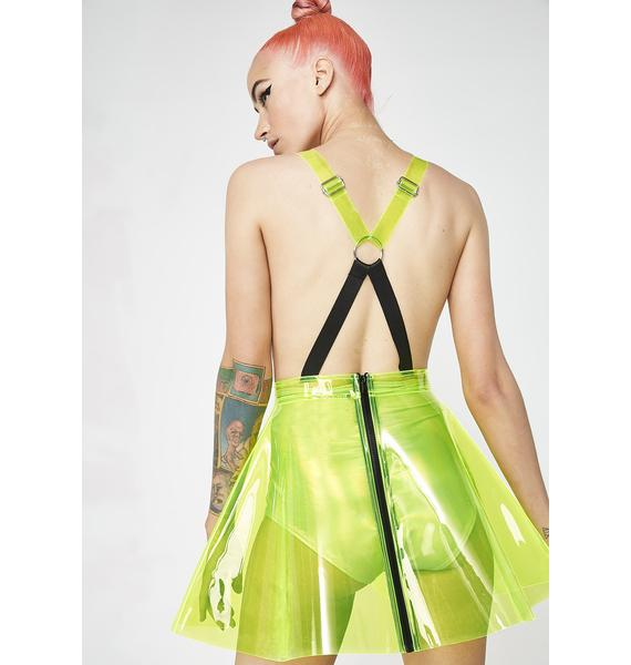 Club Exx Go Gurl Green Overall Dress