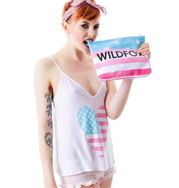 Wildfox Couture American Heart Cami Clutch