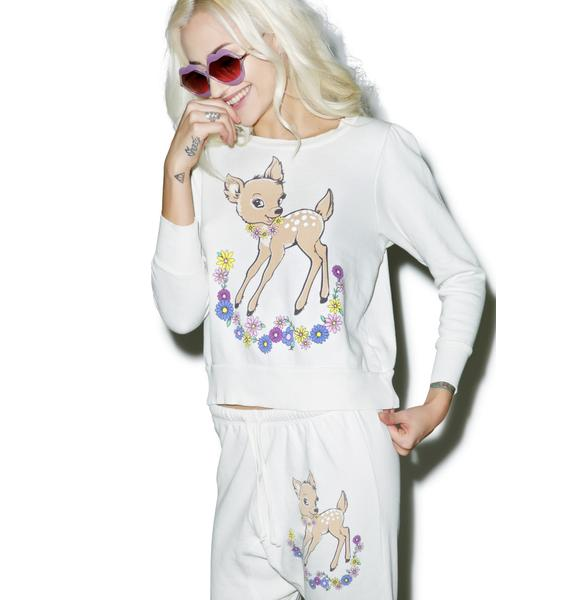 Wildfox Couture Vintage Deer Couch Princess Sweater