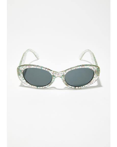 Twinkle And Shimmer Glitter Sunglasses